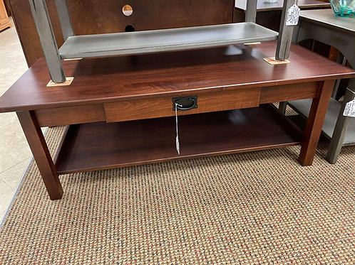 Brown Maple Large Mission Coffee Table with Drawer (Rich Cherry)
