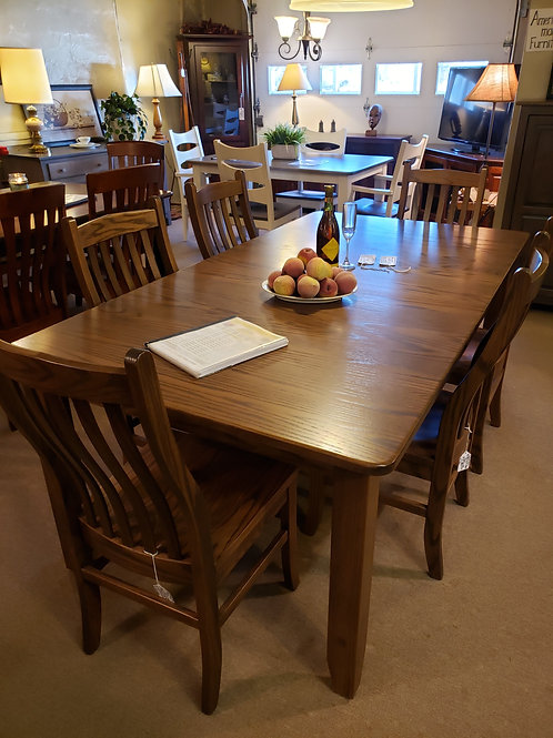 Oak Extension Table and Chair Set (Cappuccino)