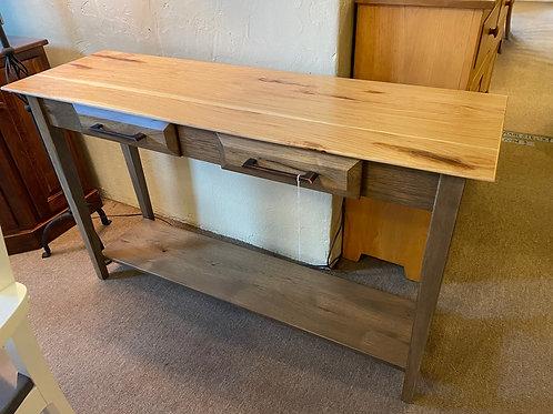 "Rustic Hickory ""Simplicity"" Sofa Table (Smoke and Natural)"