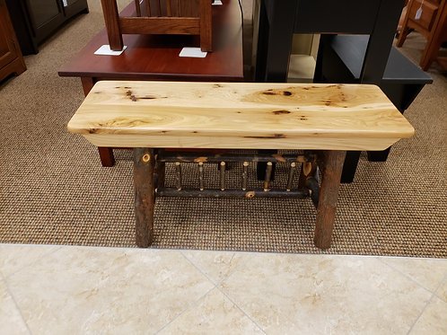 Hickory (with bark) 3' Bench (Natural)