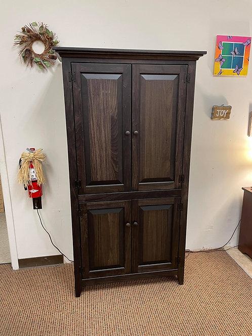Poplar Four Door Deep Pantry (Charcoal)