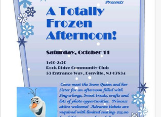 Come see us next week in Denville October 11th!  You'll need a ticket for you and your child.   Clic