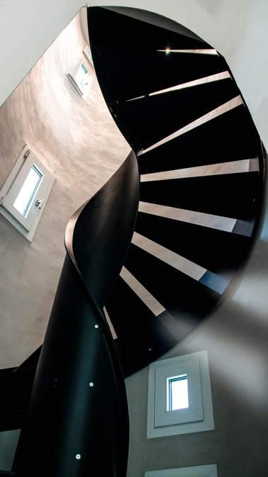 escalier hélicoïdal marches métal
