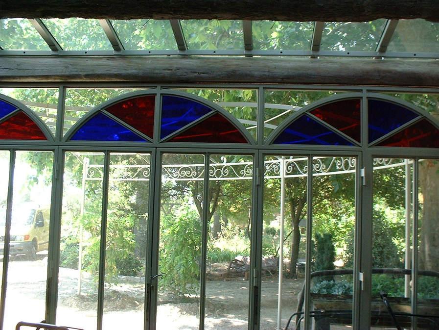 veranda verre soufflé bouche assemblé en double vitrage
