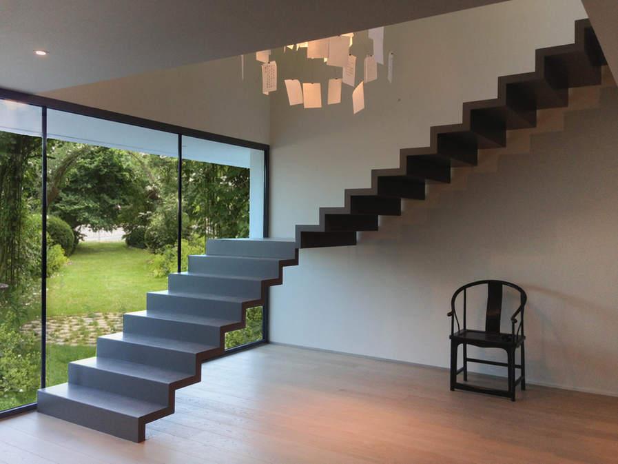 escalier ruban métalique