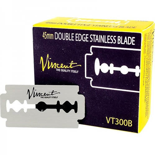 Vincent 45mm Double Edge Stainless Blades, 50 pack