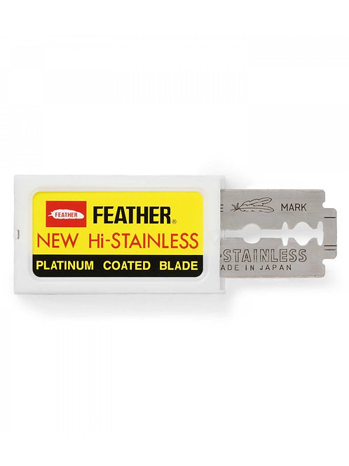 Feather Razor Blades NEW Hi-stainless Double Edge 10pk
