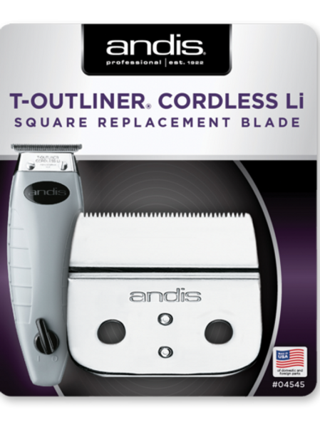 Andis Cordless Outliner ORL Replacement Square Blade Assembly #04545