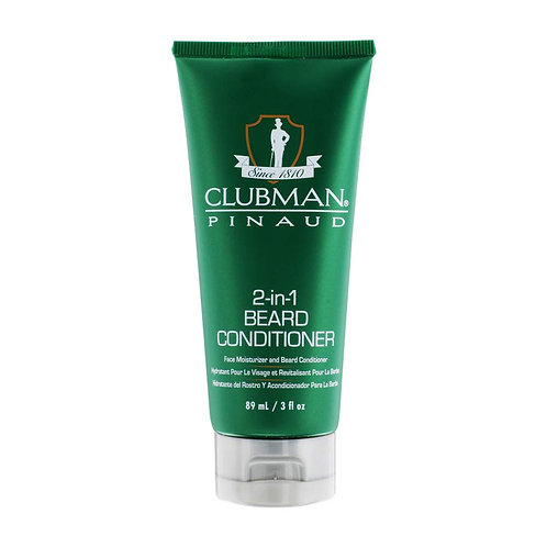 Pinaud Clubman 2-in-1 Beard Conditioner and Face Moisturizer, 3 fl oz