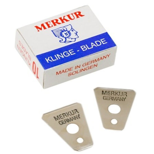Merkur Moustache Razor Replacement Blades, 10 pack