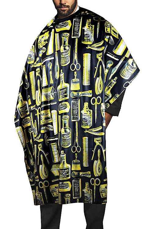 Betty Dain Vintage Barber Cape Black and Gold