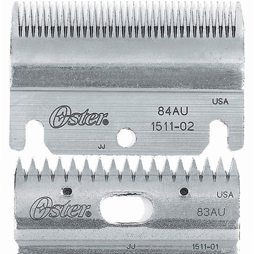 Oster Clipmaster Top and Bottom Blade set (combo) 83AU & 84 AU