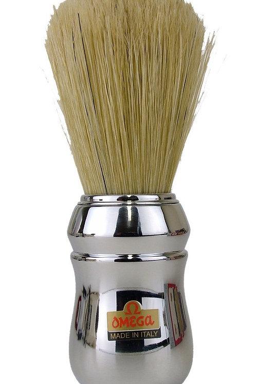 Marvy Omega Professional Shaving Brush Silver