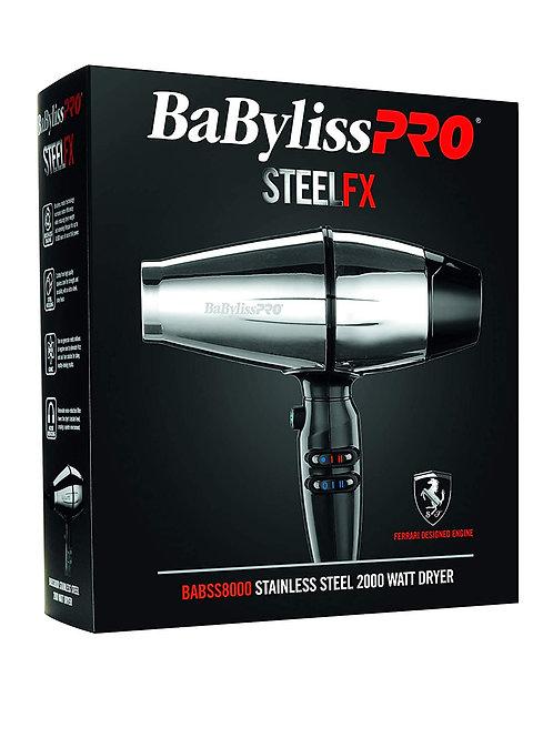Babyliss Pro STEELFX 2000 watt Stainless Steel Dryer BABSS8000
