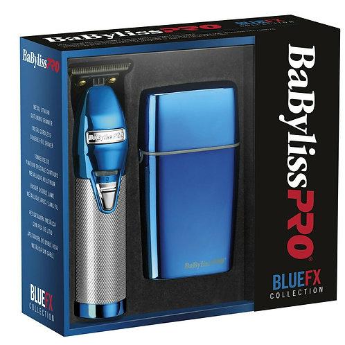Babyliss Pro BLUE FX FXHOLPK2BC Skeleton Trimmer & Shaver Combo