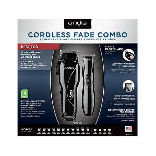Andis Cordless FADE COMBO w/ Envy Fade Clipper & Slimline Pro Li Trimmer #75020