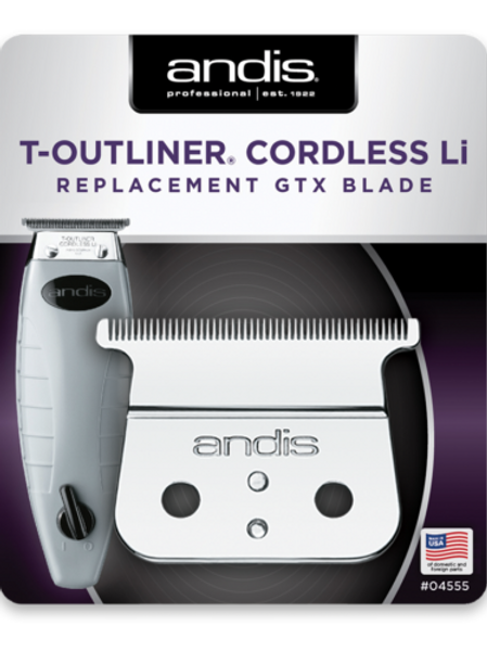 Andis Cordless Outliner ORL Replacement GTX Deep Tooth T Blade Assembly #04555
