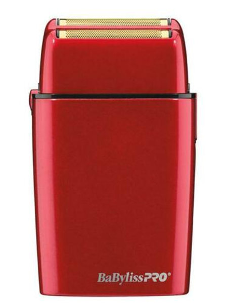 Babyliss FOIL FX02 Cord/Cordless Lithium ion Duel Gold Foil Shaver RED
