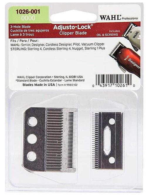 Wahl Professional 0000 Adjusto-Lock 3 Hole Clipper Blade #1026-001
