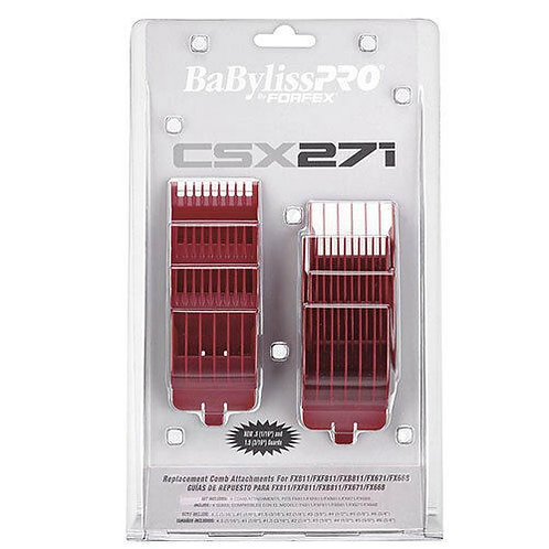 Babyliss PRO Volare X2, CSX271 Clipper Guide, Guard, Comb Set For FX811, RED