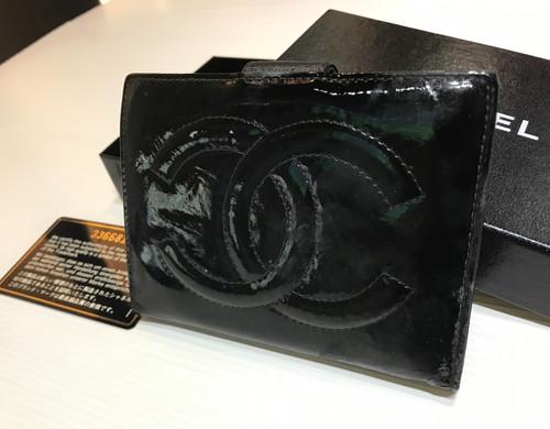 02bfe0f0bcf5 CHANEL ENAMEL CC MARK GAMAGUTI WALLET BOX&GARANTY CADE
