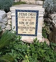 Skilt om Jesus fra gravhagen Jerusalem.j