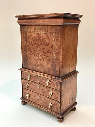 William and Mary Writing Cabinet with Drawers