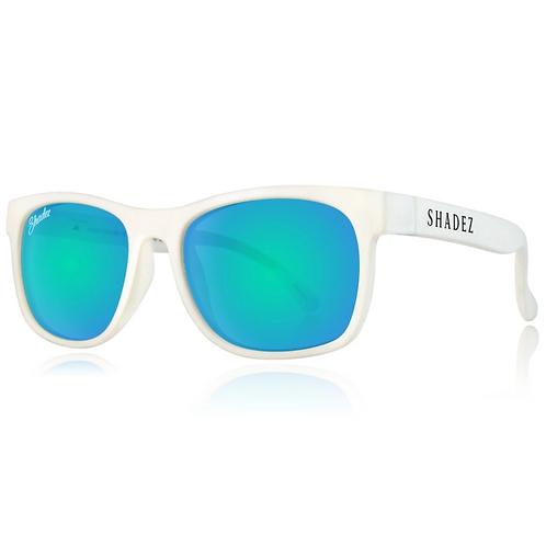 (免運)瑞士Shadez頂級偏光太陽眼鏡(兒童與大人款)(白框天空藍)