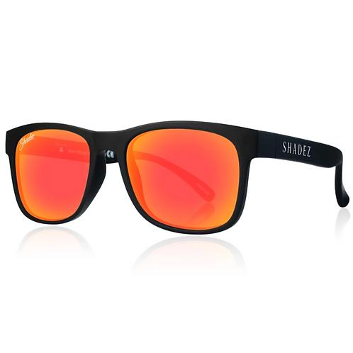 (免運)瑞士Shadez頂級偏光太陽眼鏡(兒童與大人款)(黑框晚霞橘)