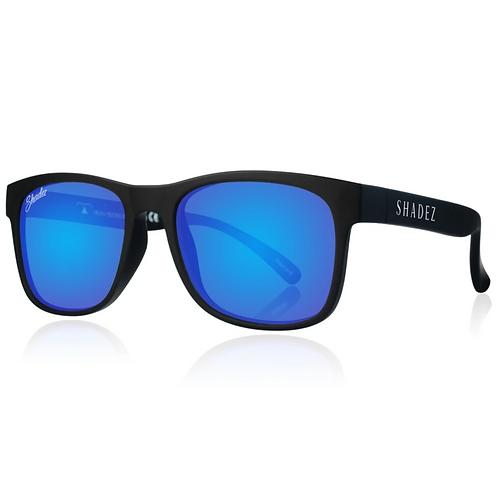 (免運)瑞士Shadez頂級偏光太陽眼鏡(兒童與大人款)(黑框湛藍)