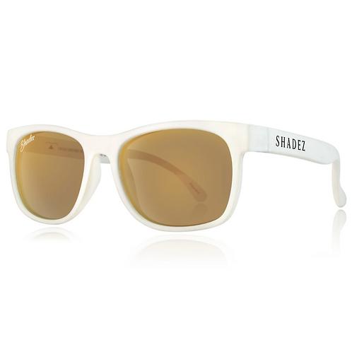(免運) 瑞士Shadez頂級偏光太陽眼鏡(兒童與大人款)(白框霧金)