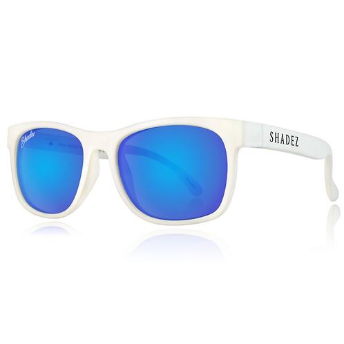 (免運)瑞士Shadez頂級偏光太陽眼鏡(兒童與大人款)(白框湛藍)