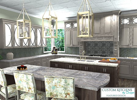 High Definition Computer Rendering of Kitchen