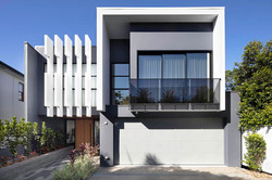Front of architectural home