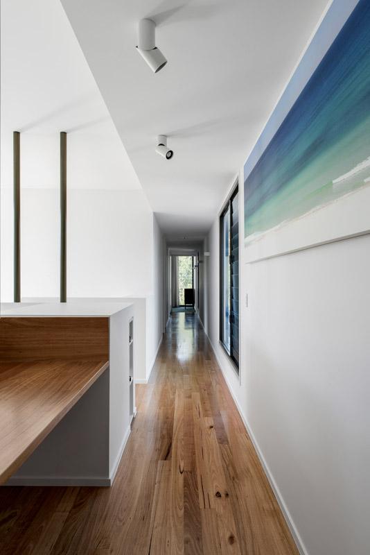 Timber floor in hallway