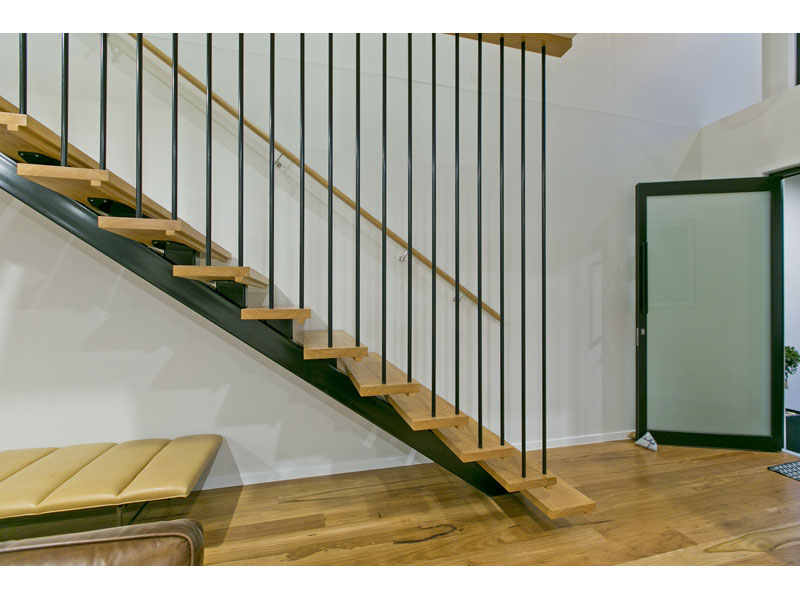 Custom built timber staircase