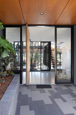 Entryway to custom built home