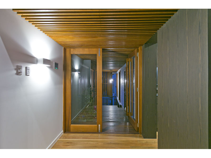 Entryway with timber highlights