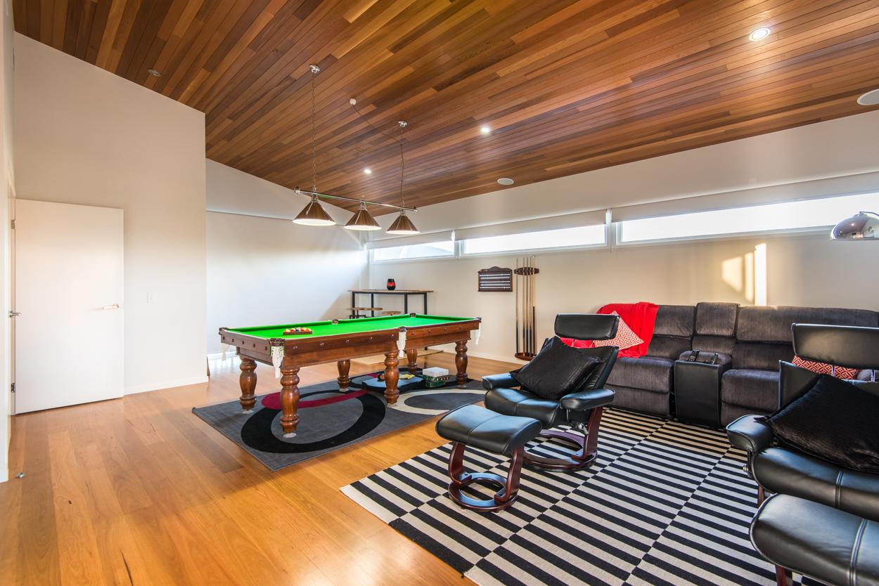 Custom built entertainment room