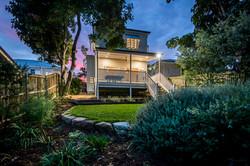 Large backyard of renovated home