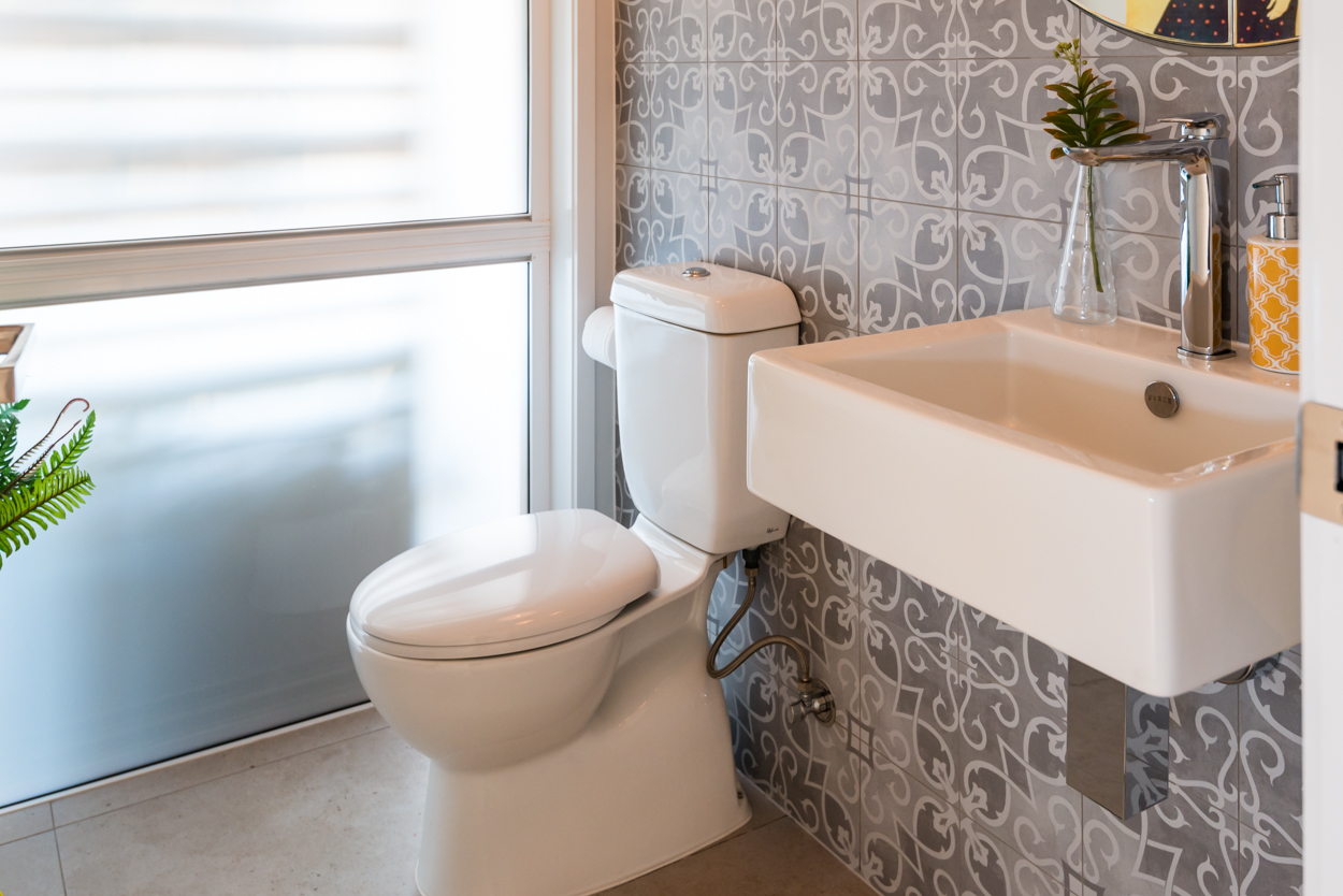 Half Bathroom with feature tile
