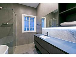 Grey, modern bathroom