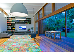 Indoor and outdoor area of extension