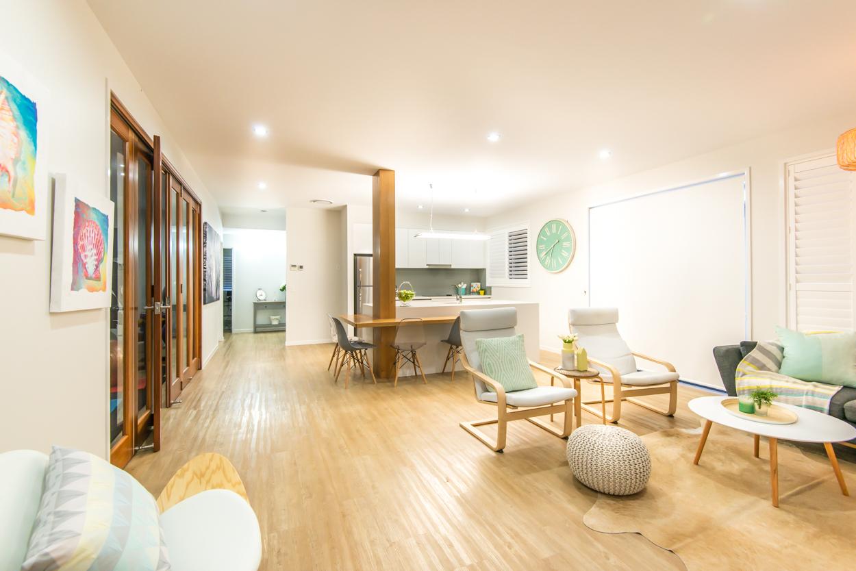 Timber custom built living area