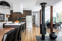 Open plan living with timber