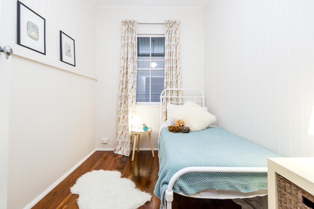 Bedroom in renovated Brisbane home