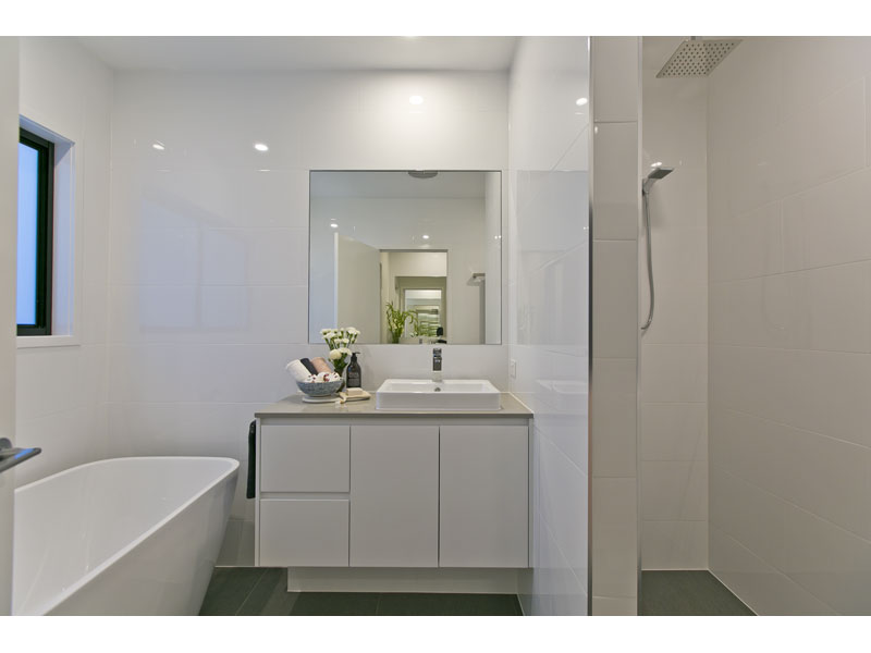 Bathroom in newly built home