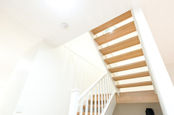 Timber staircase in renovated home
