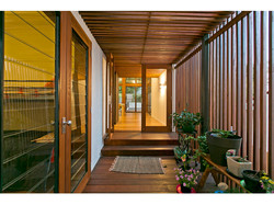 Timber entryway of extension