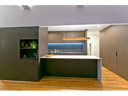 Updated kitchen of renovated home